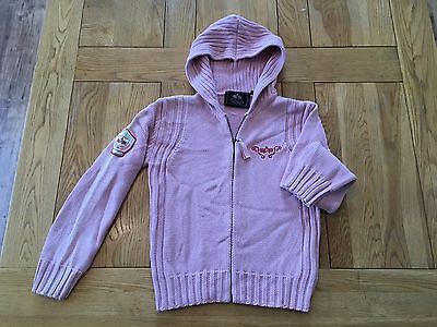 Girls PINK Alpha Industries USA knitted 'kylie style' hooded top, 16 years
