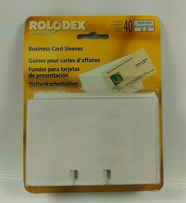 40 Genuine Rolodex Business Card Tray Refill Sleeves for 2.625 x 4 Inch Cards