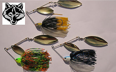 3 X SPINNERBAIT Fishing Lures 14g Heavy Duty Tackle Dual Willow Blades Bass Cod