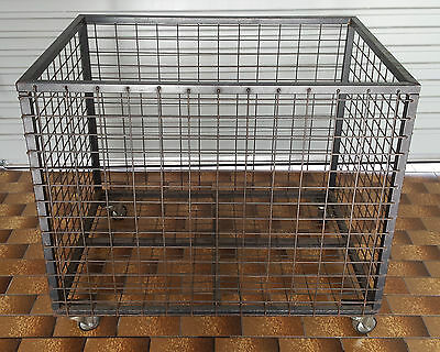 STORAGE CONTAINER - Welded Mesh Structure with Castors - Ideal for Tradesman etc