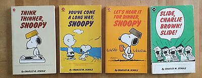 4 Vintage Collectable Charlie Brown Snoopy Books Good Condition Ideal Present