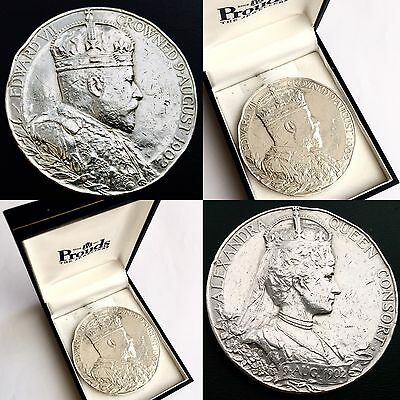 Large (55mm) King Edward VII Official Royal Mint Silver Coronation Medal (1902)