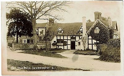 Real Photographic postcard of The Old Bull Inkberrow by Siddals - unused