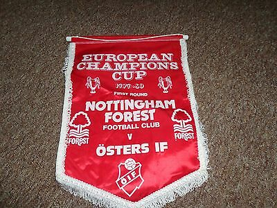 Nottingham Forest Vintage Football pennant  EUROPEAN CHAMPIONS CUP 1979-80