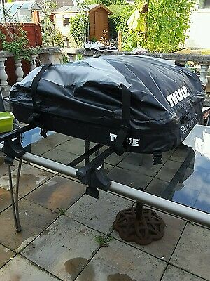 Thule ranger 90 soft roof bag and roof bars