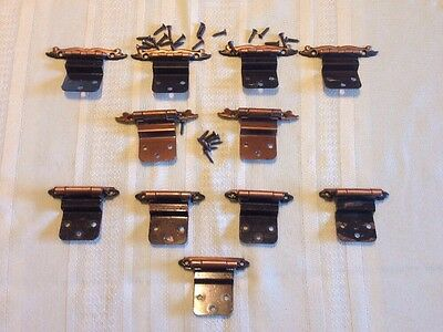 Vintage MCM Lot 11 Of Assorted Amerock Kitchen Cabinet Hinges Copper Tone