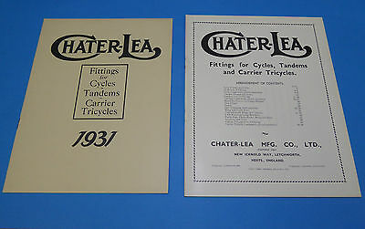 Chater-Lea 1931 Catalogue And Price List-Superb New Condition-Simply Stunning