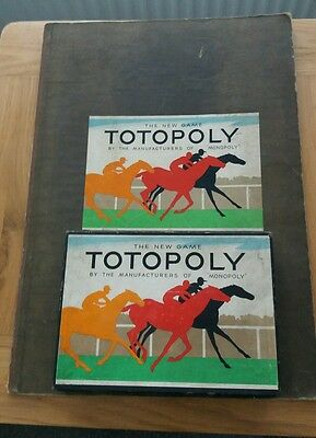 Vintage 1940s Totopoly Game Board Game Waddingtons