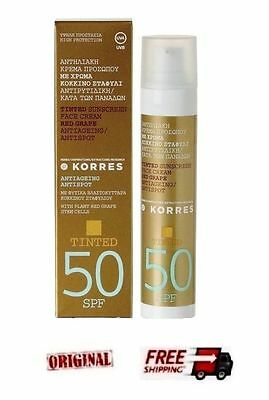 Korres Tinted Sunscreen Face Cream Red Grape Spf50 Cream For Unisex 3W Clinic - Mask Sheet - Fresh Green Tea - 10pcs