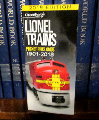 2018 Lionel Price Guide....latest Edition........free Shipping!.............w815