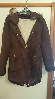 Girls Brown coat from Next 12 yrs