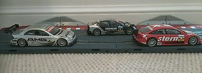 3 SCALEXTRIC DIGITAL TECNITOYS CARS Opal Vectra Audi A4 AMG Mercedes C SCX