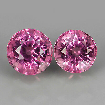 0.53 Ct Unheated Srilanka Natural Pink Spinel Earing Round Cut Loose Gemstones