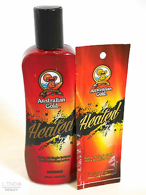Australian Gold Heated - Tingle Tanning Lotion Hot Bronzing Sunbed Tan Cream