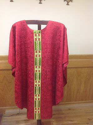 Red Chasuble Vestment And Stole