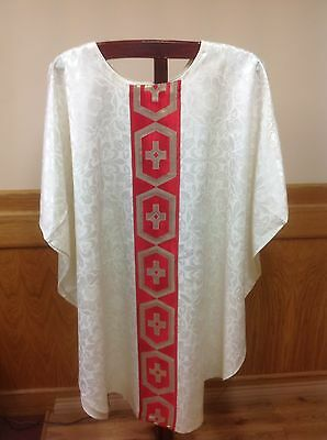 White Chasuble Vestment And Stole