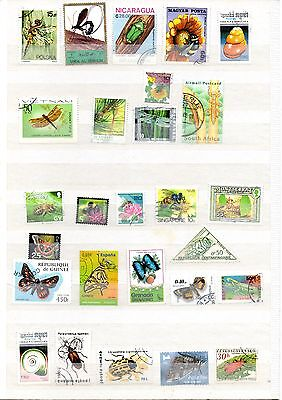 Insects and crawlies stamp mix - 25 different