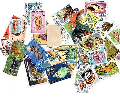 Marine Life stamp mix - 50 different