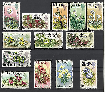 Falkland Islands - Flowers - 1968 - 13 values up to 5s -