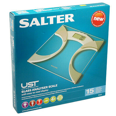 Salter Glass Ultra Slim LCD Digital Body Analyser Scale BMI Weighing Scale