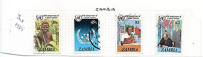 Zambia - 1985 United Nations used postage stamp set