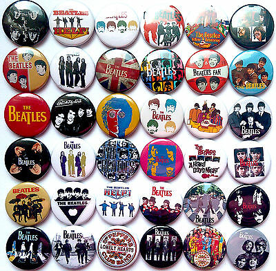 THE BEATLES SET#2 Pins Buttons Badges Help Yellow Submarine Let It Be Lot of 36