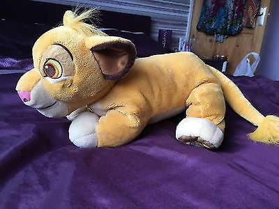 """The Lion King Simba  Big Soft Plush Cuddly Toy Disney Store 16"""", immaculate"""