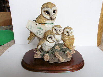 Owls By Leonardo Figurine - Group Of Four - Nature Studies 1994