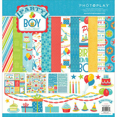 """Photo Play Collection Pack 12""""X12"""" Party Boy PPPB2168"""