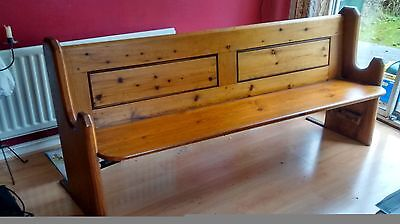 Victorian Pine Solid Wood Antique Church Pew, Bench Seat, Settle