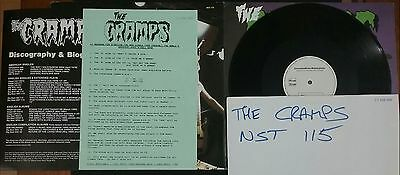 THE CRAMPS -  what' inside a girl   -   TEST PRESSING , TEST PROOF SLEEVE