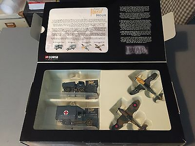 Corgi die cast military WWII set with planes