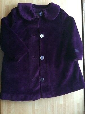 Girls Moschino Purple Faux Fur Winter Smart Coat Age 4-5 Years Fab Condition