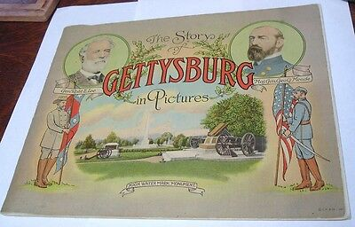 The Story Of Gettysburg In Pictures Illustrated Battlefield Book 1920 Lee Grant