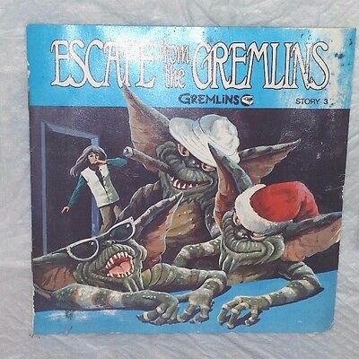 """""""escape From The Gremlins"""" Story 3 Book And Read Along Record"""