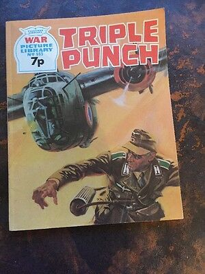 War Picture Librsry No 985 Triple Punch