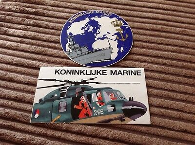 Dutch  MOD stickers 1980s X2 Rare Decals NATO. Lynx Helicopter
