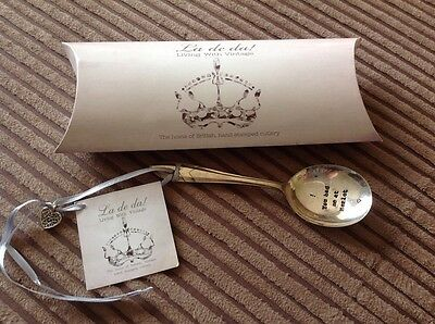 vintage Style silver Plated cutlery Spoon.Hand Stamped In UK.