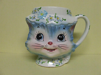 Vintage Lefton Miss Priss Kitty Cat Mug/Drinking Cup (Japan/#8169)