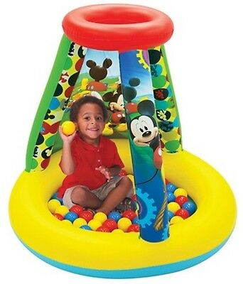New Disney Jr Mickey Mouse Clubhouse Playland Ballpit W/ 20 Balls Pit Inflatable