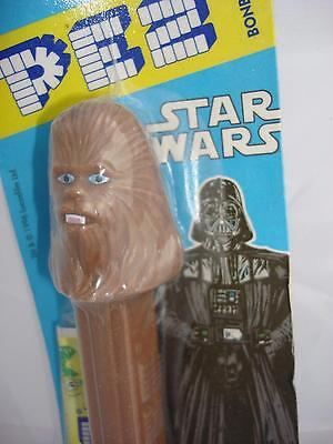 bonbons star wars chewbacca pez and sweets sealed carded pack 1996 unopened