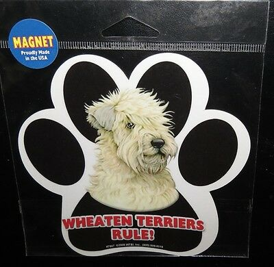 Wheaten Terriers Rule!  ~ Waterproof Dog Paw Magnet - Made In USA - NEW