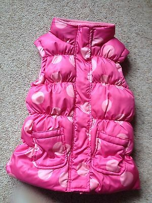 Girls Padded Bodywarmer From Avenue Kids  Age 5-6 Years  Ex Cond