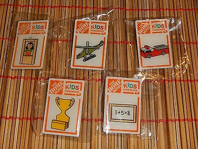 Home Depot 5 Pin LOT 2016 Current Kids Workshop Fire Truck School Helicopter NEW