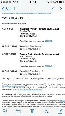 Flights To Tenerife From Manchester X 2 December for New Year