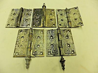 Antique Russell & Erwin Brass Hinges