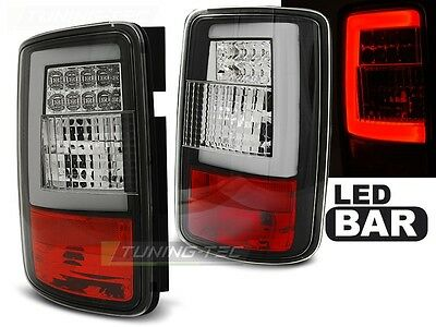 New Set Rear Tail Lights Rht Ldvwf9 Vw Caddy 2003-03.2014 Black Led Bar