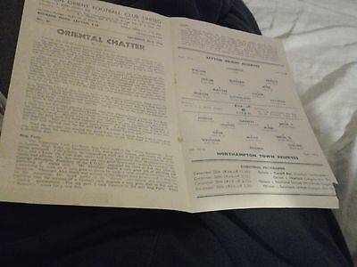 leyton orient v northampton 50.51 reserves football combination