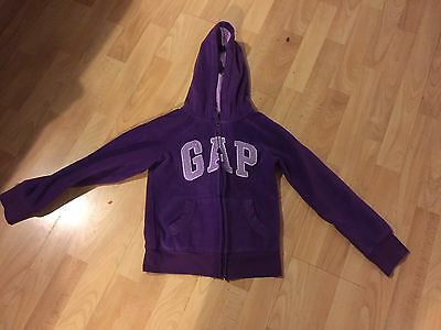 Girls Purple Fleece Gap Hoody Age 10