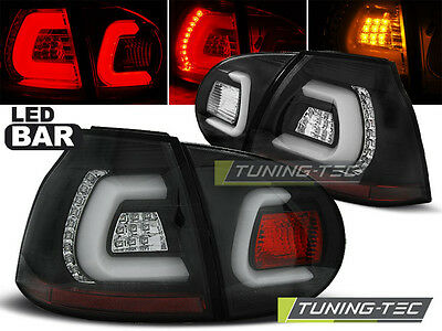 New Set Rear Tail Lights Rht Ldvwa3 Vw Golf 5 10.2003-2009 Black Led Bar